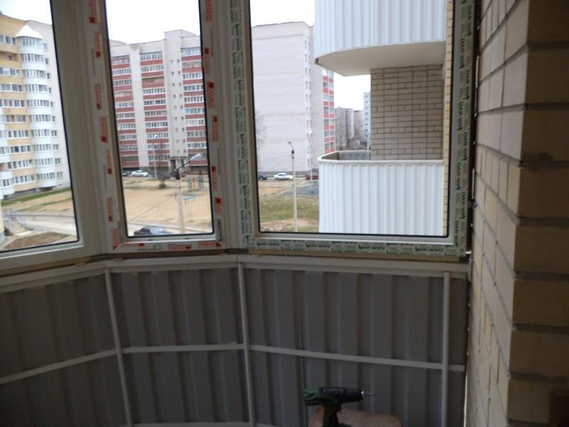 """Балкон с эркерным соединителем - портфолио """"центр-балкон""""."""